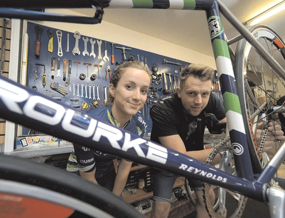 Olympic cyclist Elinor Barker becomes a woman of steel