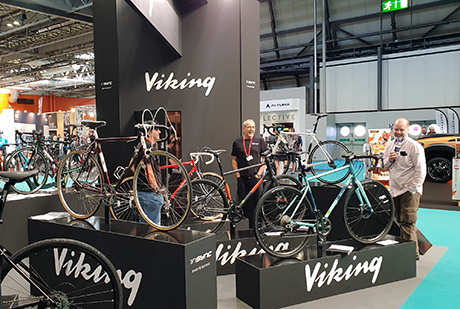 Reynolds at the 2018 Cycle Show viking