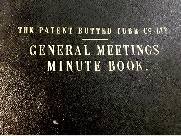Reynolds Technology meeting book from 1898